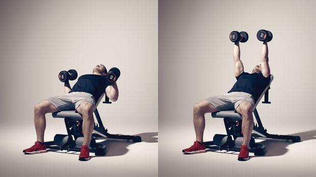 Exercícios com halteres Hammer press