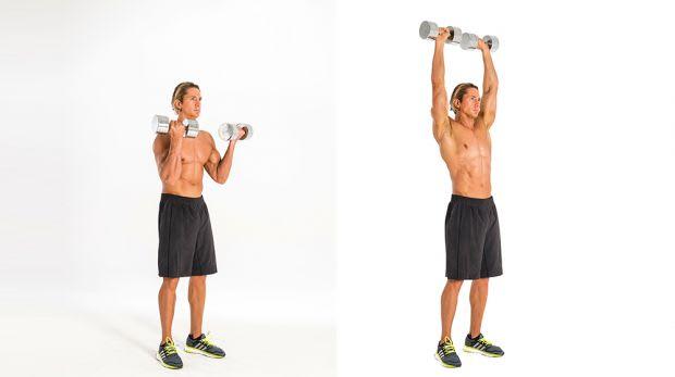 Exercícios com halteres - Arnold Press com Halteres