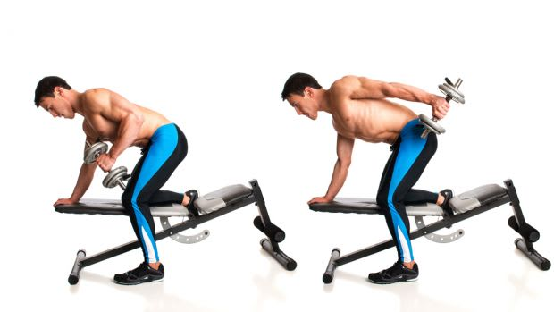 Tríceps kick-back com Halteres